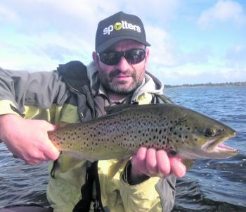 Peter Kallinakos landed this lovely Toolondo hen brown.