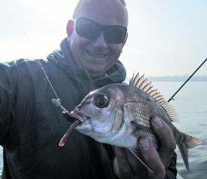 Lures are the best bet for pinkie snapper – that way they can be released quickly if undersize.