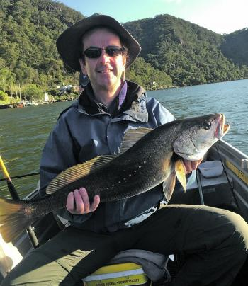 Martin Mills did one of my fishing classes and he managed to snare this nice mulloway in the Hawkesbury River.