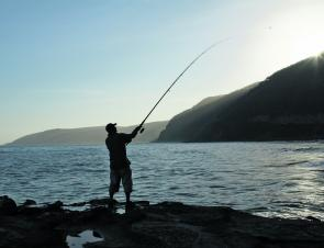 Try flicking some lures off the Ocean Road rock platforms this July.