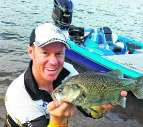 Quality bass can be caught trolling deep diving lures through the deep water near the buoy line at Lake Cressbrook.