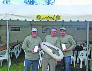 The winning team of Brad Job, Champion Senior Ross Mc Cubbin and QFM's southern gold Coast reporter Ben Job fished a variety of locations at specific times to amass their winning tally.