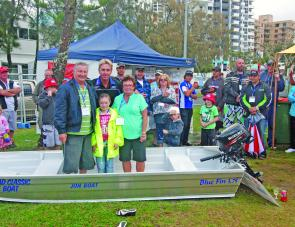 The Junior random draw prize of a Blue Fin John Boat was won by lucky junior Rhiannon Newton of Team Tight Lines.