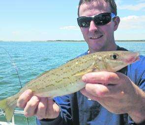 Luke McCredden with a quality King George Whiting from the top end of western port