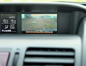 The Forester's dash screen – smaller than some, but does the job.