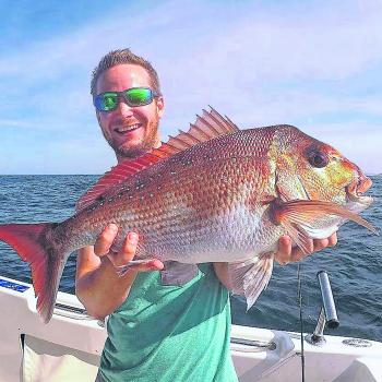 Alex smith with a decent inshore snapper.