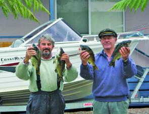 John Kramme and Peter Euman of Bairnsdale weighed in a 2.7lb bream, which he also caught on prawn.