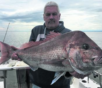 Peter Vink with his whopper of a Lang Lang red.