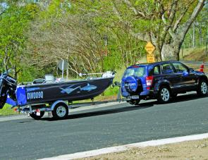 The steep gradient at the Borumba Dam boat ramp made no requirement for the Grand Vitara to be changed from normal 4H mode.