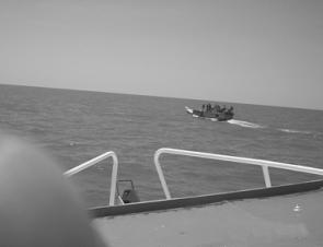 This is how close the Indonesian fishing vessels are getting to the mainland. This is just a short troll from Karumba.