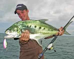 Mid-sized queenfish can be a fun target when they're feeding in large schools.