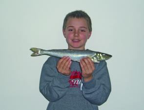 Wonthaggi angler Lachlan Stephenson with a very nice whiting which won him the club's junior section championship.