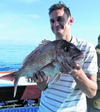 This 53cm snapper couldn't resist a squid strip in 70m of water.