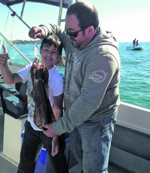 Calamari have been fantastic and should continue right through winter. Young Matthew with a ripper taken off Sorrento.