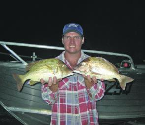 A couple of nice spangled emperor caught on soft plastics at night.