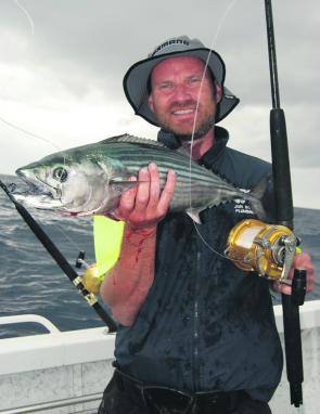 Some big bonito get around this month and make it hard to keep a live bait in the water for kings.