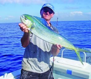 If the water remains warm enough, mahi mahi should be hanging around for another few weeks.