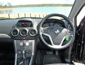 User-friendly controls are a useful aspect of the Captiva's well set out dash area.