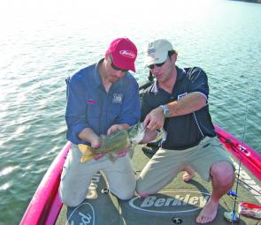 Casting and trolling plastics will produce bass from schools over the coming month.