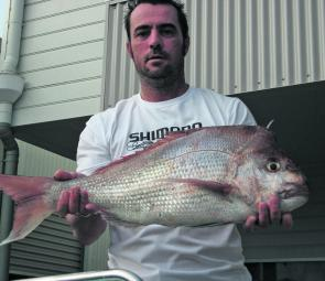The author with a ripper 75cm snapper caught on an awesome 'fishing adventure'.
