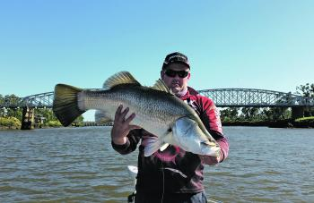 Mark Sheen nailed this fine barra in the town reaches of the Fitzroy.