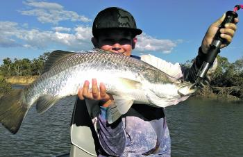 Riley Bust scored this great barra locally.