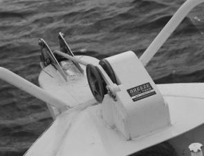 Laying your anchor from the comfort of the cockpit is something I've gotten used to. And, you can keep your warm winter gloves on when it comes to retrieving it because all you have to do is clip in the locking pin to secure the anchor for travel. No more