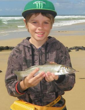 Matty Weston found this whiting in a shallow gutter on Fraser's ocean beach.