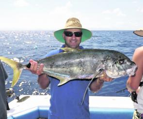 Gold spot trevally have been a consistent fish on the reef during the tougher periods according to Dragon Lady Charters.