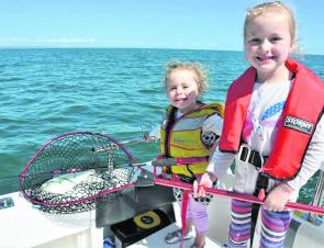 Good weather and plenty of salmon on offer means it's a great time to get the kids on the water.