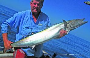 Wayne Thomas with a wide caught wahoo from Yeppoon.