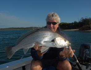 Since the minimum size for mulloway changed to 75cm, there have been plenty of 60-70cm fish around and the entrances are the best spots to chase them.