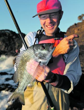 This is the quality of the bream you can look forward to from the rocks in autumn and winter.