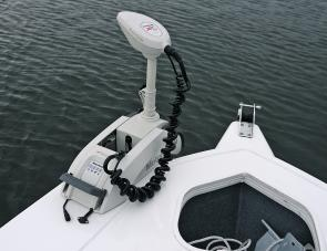 The MotorGuide Xi5 Saltwater models are white in colour, while the Freshwater units are black.