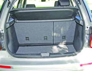 Reasonable rear storage space can be augmented by the 60/40 split fold seating system of the SX4.