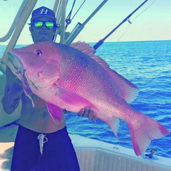Jai went fishing for big reds and caught this 15.1kg model from the 60 mile grounds off Yeppoon.