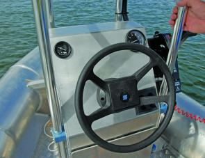 A flat area on top of the console would allow a sounder and other items to be fitted as required.