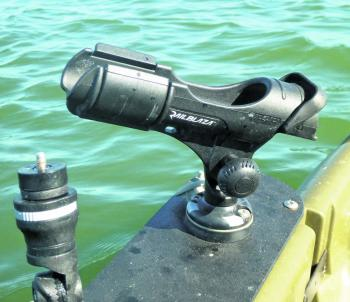 An adjustable rod holder – a safe and secure way to house your rod when trolling