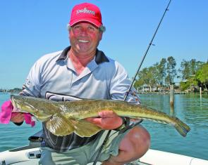 Wayne Bale caught and released this 89cm flattie in Limeburners Creek.