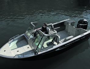 The Crestliner Commander 1850 provides plenty of fishing space. In calm waters the forward casting deck delivers, while in offshore environs the deep cockpit is a secure place to fish from.