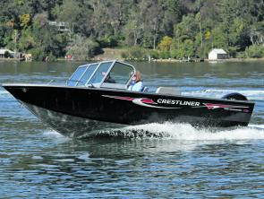 Handling in the Crestliner is superb, and the skipper's seat is super-comfortable.