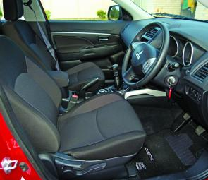 Supportive and good sized front seats assure comfort for the driver and front passenger.