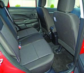Ample rear leg and head room is a feature of the ASX.