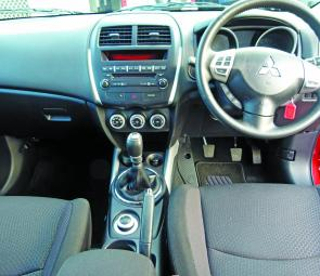 A well set out dash layout combines style and practicality in the ASX.