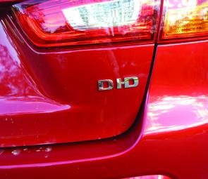 The modest Di-d badging gives little hint of the ASX's powerful diesel engine.