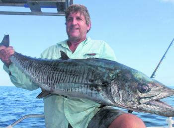 Scott Napier with a solid mackerel taken on a recent trip to the reef.