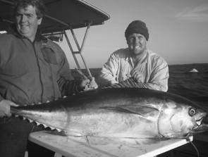 Scott Gray and Aka with another quality bluefin taken off Port Fairy on 24kg tackle.