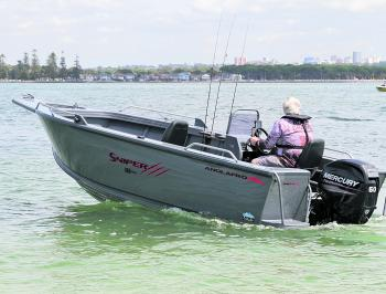 The 60hp, 4-stroke Mercury outboard pushed the 484 Sniper Pro along with ease. Don't forget you could always up size to a 90hp.