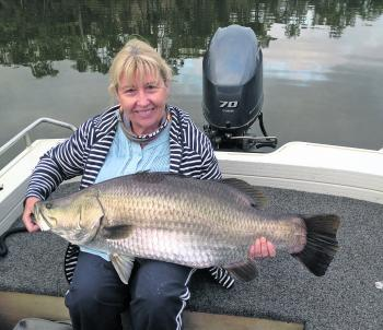 Mary took this 101cm, which ended up her first barra!
