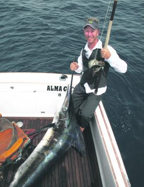 Landing a marlin on a 100-year-old setup really makes you appreciate modern fishing gear.